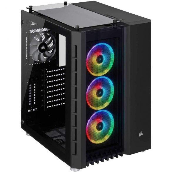 Corsair Crystal Series 680X RGB Tempered Glass - Black