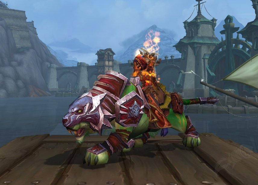 Red shado-pan riding tiger