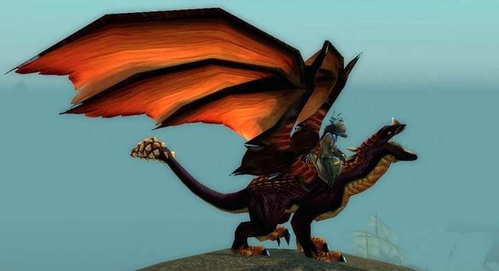 wow dragon mount black darke