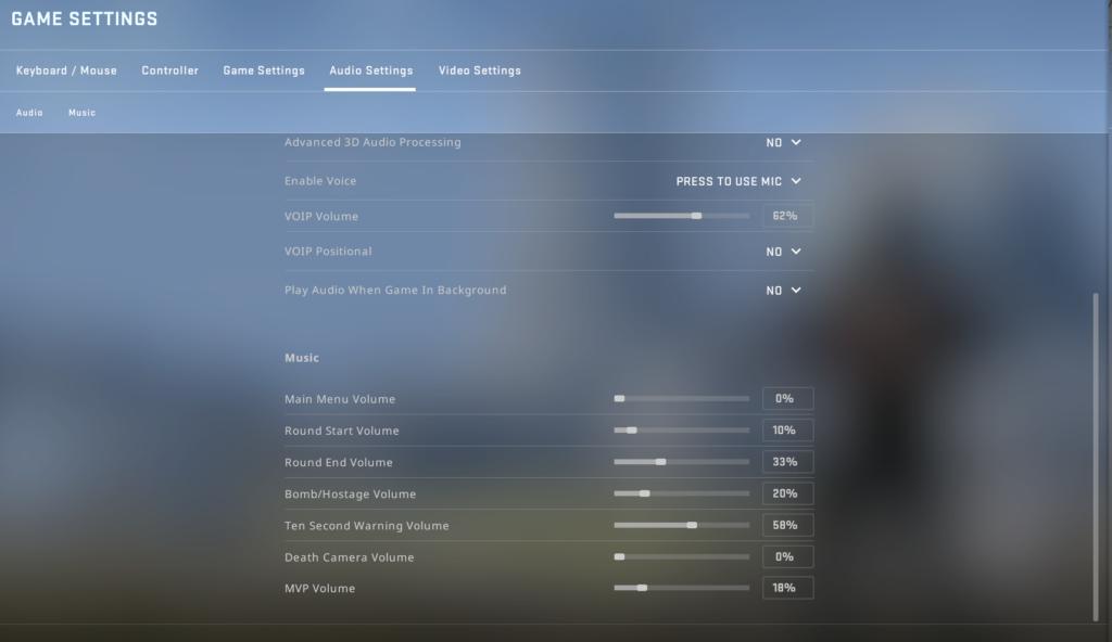 CS: GO Pro Settings for Best Audio