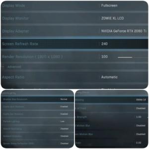 Best settings for warzone video settings