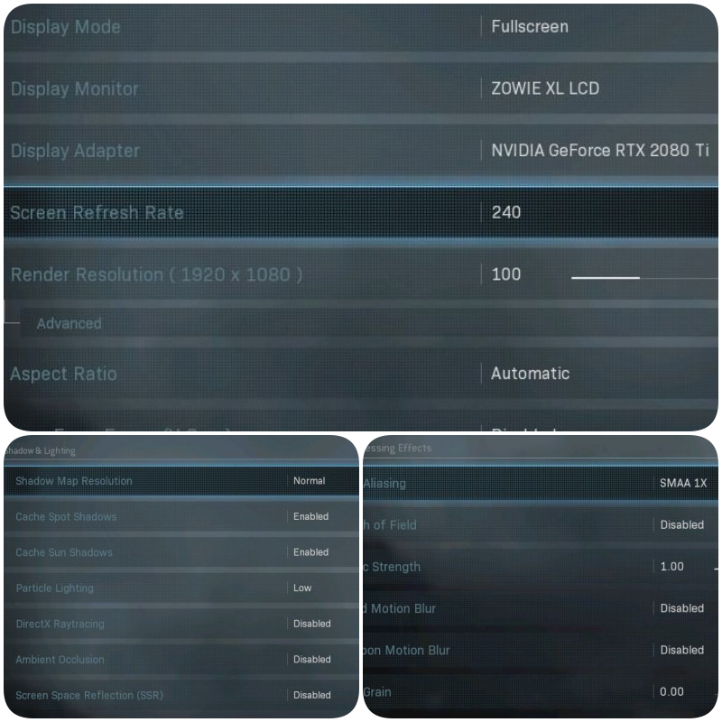 video settings- Best settings for warzone