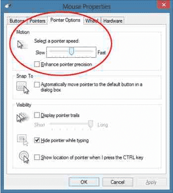 Chnage mouse DPI manually from Windows settings