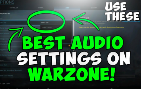 best audio settings for warzone