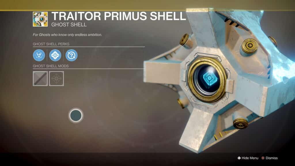 Traitor primus shell