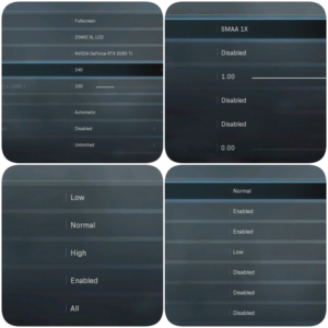 Best setting for warzone video settings