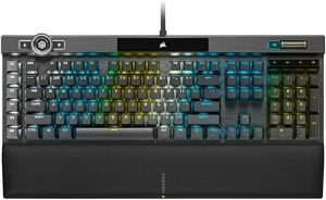 1. Backlight:Per-key RGB | 2. Size:18.5 x 6.5 x 1.5 inches 3. Switches: Corsair OPX RGB or Cherry MX Speed Silver