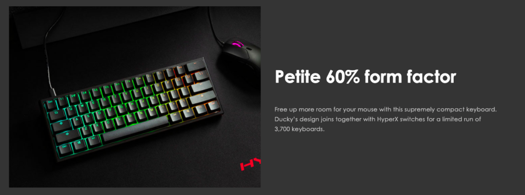Ducky one 2 mini form factor