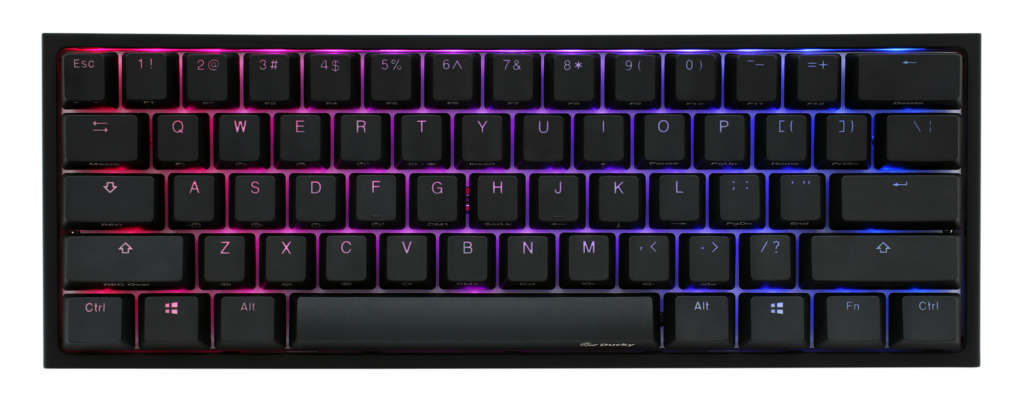 Ducky one 2 mini top view with RGB