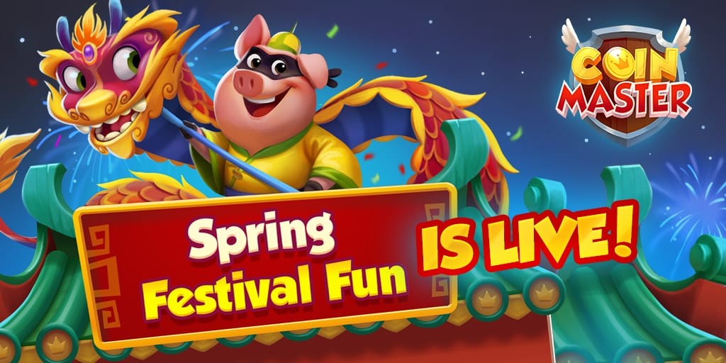 Free Coin Master spins spring festival