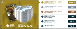 Warframe Promo Codes trinity pack
