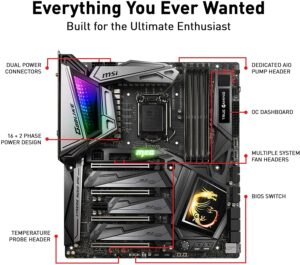 MSI MEG Z390 GODLIKE best z390 motherboard