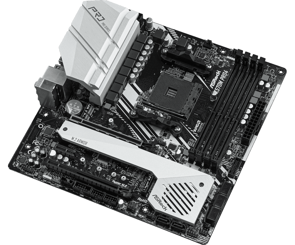 ASRock B450M-Pro4 port and slots