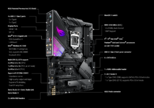 ROG STRIX Z390-E GAMING best bmotehrboard for i7 Specs
