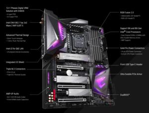 Gigabyte Z390 Aorus Ultra best motherboard for i7 8700k specs
