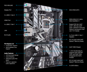 ASUS Prime Z390-P ATX   Great Value - Best motherboard for i7 8700K