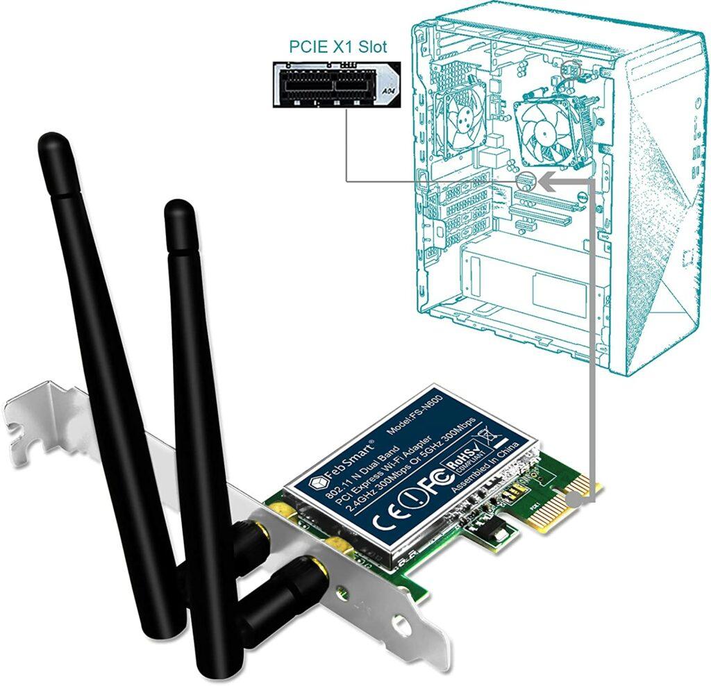 wifi card PCIE 1 slot