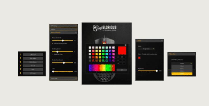 Glorious model O RGB panel