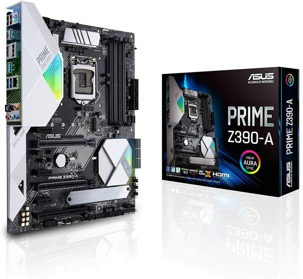 ASUS Prime Z390-A Motherboard best white motherboard